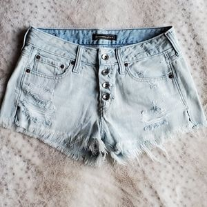 Abercrombie & Fitch button-up fly Jean shorts